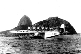 The Do-X flying boat at rest in Rio de Janeiro's harbour - Links999 hovercraft history.