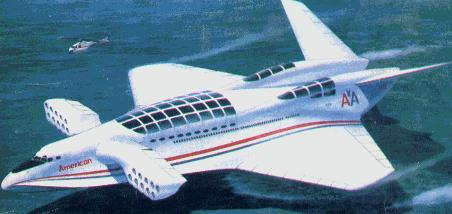 The Aerocon. An artist impression of future transportation. Links999.