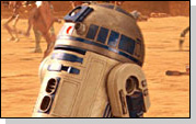 R2D2 - the robot mechanic from Star Wars with a mind of its own.